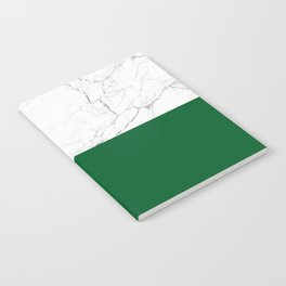 emerald green and white marble Notebook