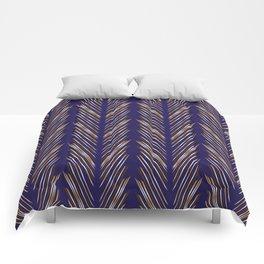 Navy Blue Wheat Grass Comforters