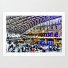 Kings Cross Station London Art Print