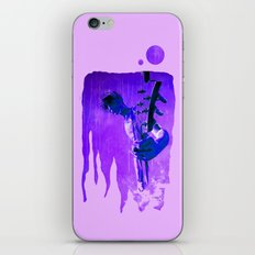 My son is a  GUITAR GOD - blue iPhone & iPod Skin