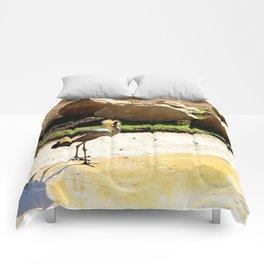 East African Crowned Crane Comforters