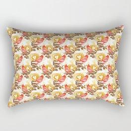 Cardinal Chickadee Pattern Rectangular Pillow