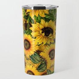 Vintage & Shabby Chic - Noon Sunflowers Garden Travel Mug