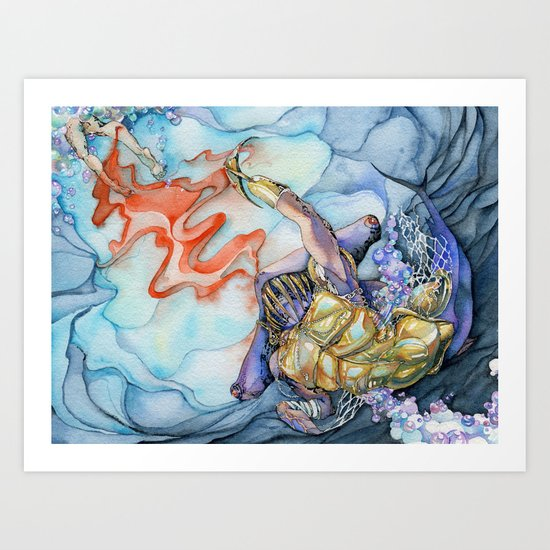 Gladiator Hammerhead Shark Art Print