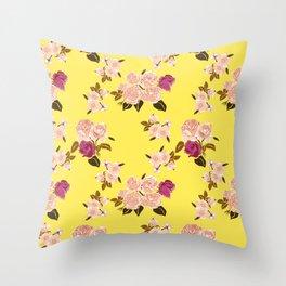 Belle Roses Throw Pillow