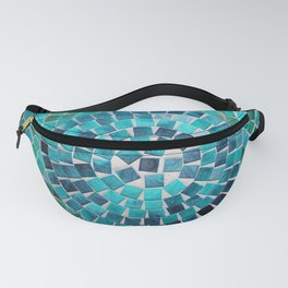 circular - photograph of mosaic tiles Fanny Pack