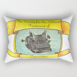 The Society for the Ethical Treatment of Typewriters Rectangular Pillow
