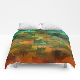 """Abstract forest in Autumn"" Comforters"