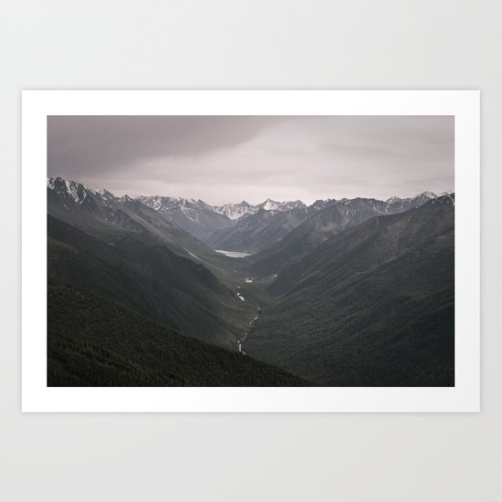 follow the river Art Print