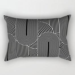 Bizarro Shape Study Pop-Art Print: Black Rectangular Pillow