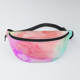 Bubble Gum Watercolor Texture Fanny Pack