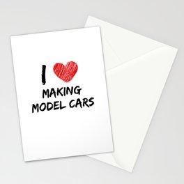 I Love Making Model Cars Stationery Cards
