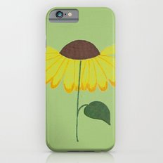 Yellow spring flower on a light green background Slim Case iPhone 6s