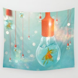 Ideas and Goldfish ... Wall Tapestry