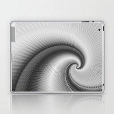 The Big Wave Spiral in Monochrome Laptop & iPad Skin