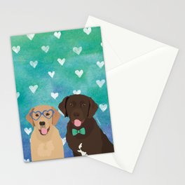 Labrador Retrievers Watercolor Stationery Cards