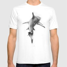 Shark II MEDIUM Mens Fitted Tee White