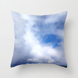 Coastal Clouds Seascape Cancale Bretagne France Throw Pillow