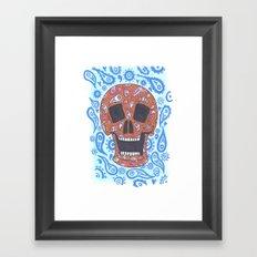 Paisley Skull Framed Art Print