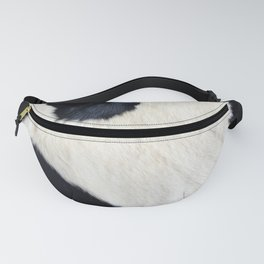 Cowhide Black and White Fanny Pack