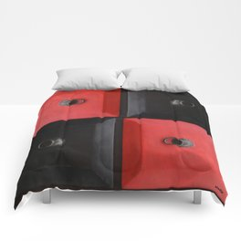 red and black design Comforters