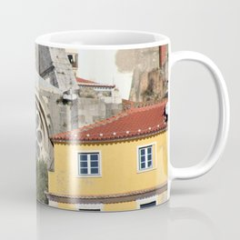 Lisbon Cathedral Detail Rose Window, Romanesque Architecture, Portugal Coffee Mug