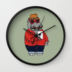 Hipposter Wall Clock