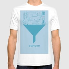 Essence Of Gizmodo Mens Fitted Tee MEDIUM White