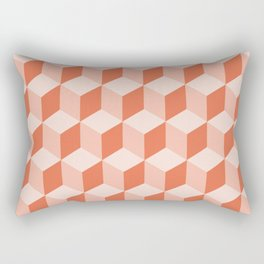 Diamond Repeating Pattern In Living Coral Rectangular Pillow