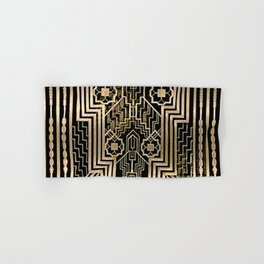 Art Nouveau Metallic design Hand & Bath Towel