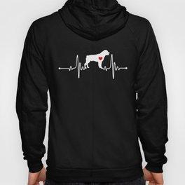 Rottweiler dog heartbeat Hoody
