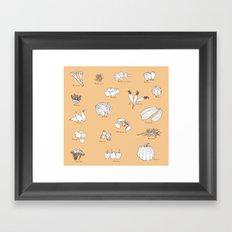 Fruit And Vegetables Framed Art Print