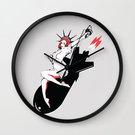 Bombshell - Statue of Liberty Political Art Print Wall Clock
