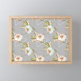 Botanical blooming with geometric 02 Framed Mini Art Print