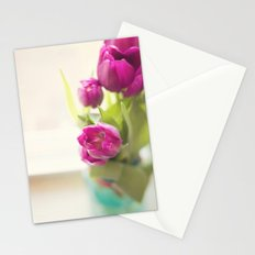 Purple Tulips in a jar Stationery Cards