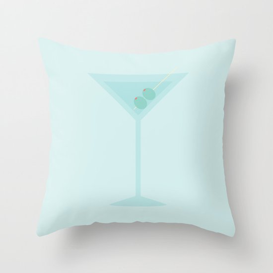 #47 Martini Throw Pillow