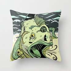 Something Fishy this way Comes Throw Pillow
