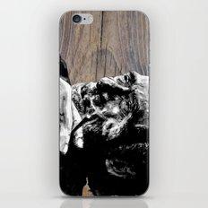 Hank on wood iPhone & iPod Skin