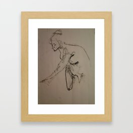Figure Drawing Framed Art Print