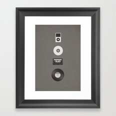 Evolution of Music Framed Art Print