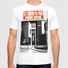 Vinnie was here White MEDIUM Mens Fitted Tee