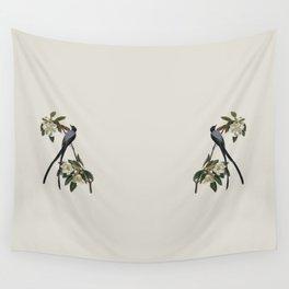 Fork-tailed Flycatcher Bird Illustration Wall Tapestry