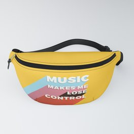 MUSIC MAKES ME - TYPOGRAPHY Fanny Pack