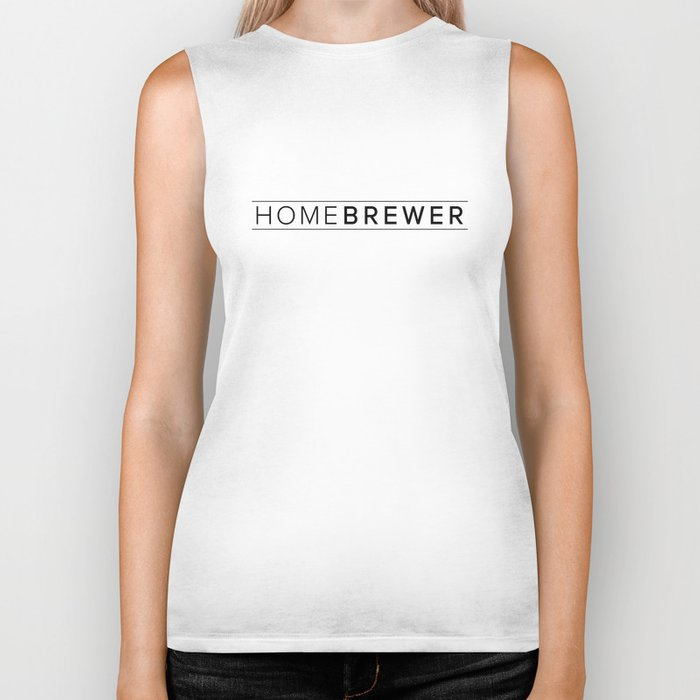 Homebrewer (Black) Biker Tank