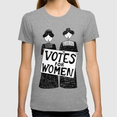 votes for women Womens Fitted Tee Tri-Grey MEDIUM