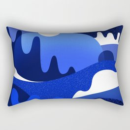 Terrazzo landscape blue night Rectangular Pillow