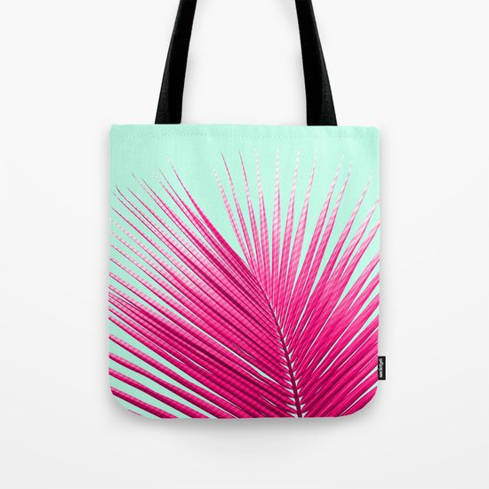 Pink Candy Cane Palm Tote Bag