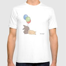 Balloons Mens Fitted Tee White MEDIUM