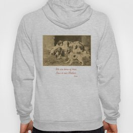 English Setter puppies & Mother's Day quote Hoody