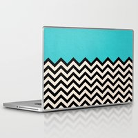 chevron Laptop & iPad Skins featuring Follow the Sky by Bianca Green